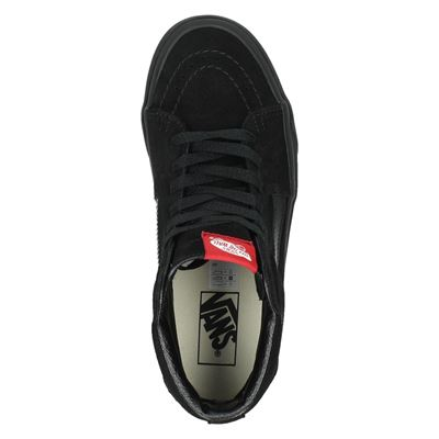 Vans unisex hoge sneakers Zwart