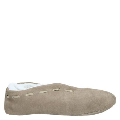 Hobb's unisex pantoffels taupe