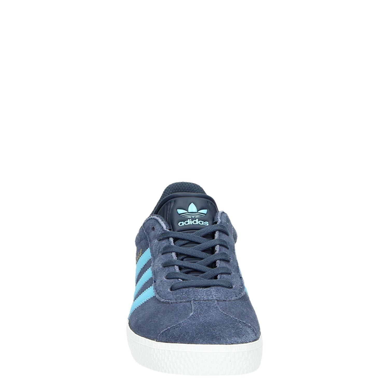 Adidas Gazelle jongens lage sneakers blauw