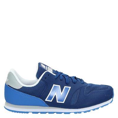 New Balance jongens lage sneakers blauw