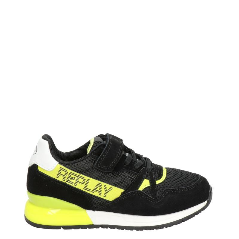 Replay Glazov - Klittenbandschoenen - Zwart