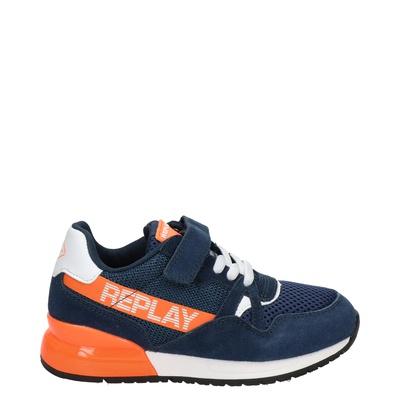Replay Glazov - Klittenbandschoenen - Blauw