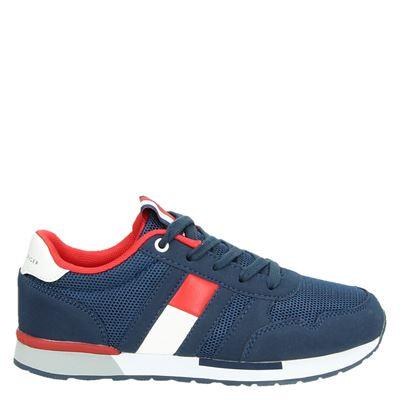 Tommy Hilfiger jongens lage sneakers blauw