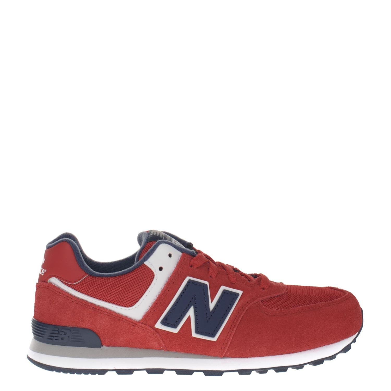 New Balance jongens lage sneakers rood