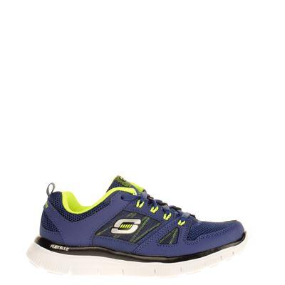 Skechers jongens lage sneakers blauw