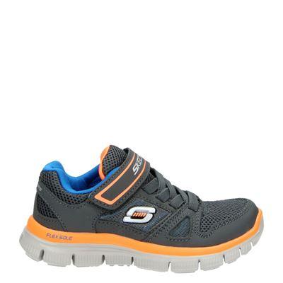 Skechers jongens lage sneakers grijs