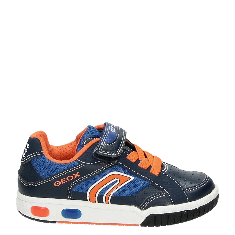93b9daba04c Geox jongens lage sneakers blauw