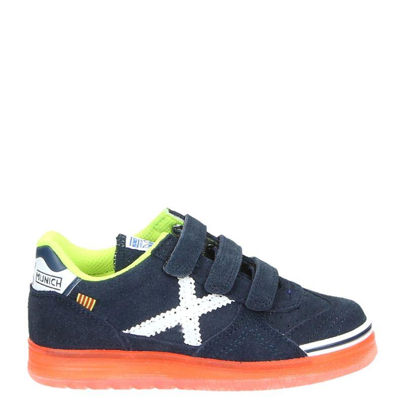 b71a96b0dd3 Munich jongens klittenbandschoenen blauw