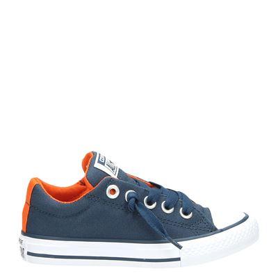 Converse jongens lage sneakers blauw