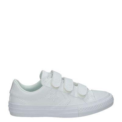 Converse jongens klittenbandschoenen wit