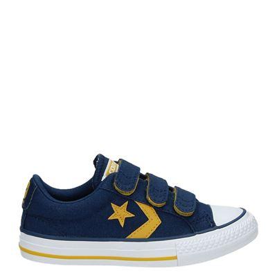 Converse jongens klittenbandschoenen blauw