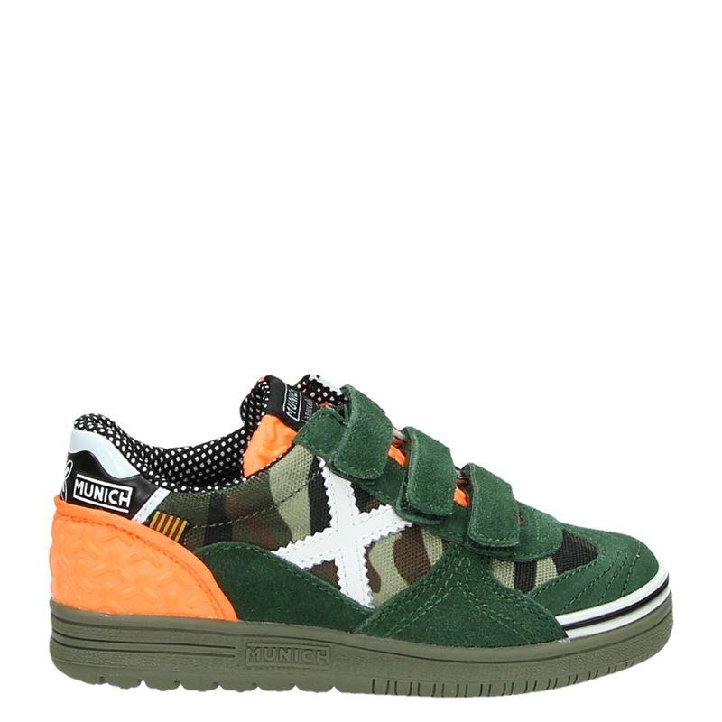 a9df73b46da Munich jongens lage sneakers groen