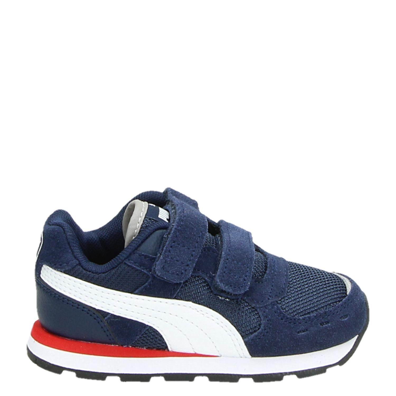 b76ba584b9a Puma Vista jongens hoge sneakers blauw