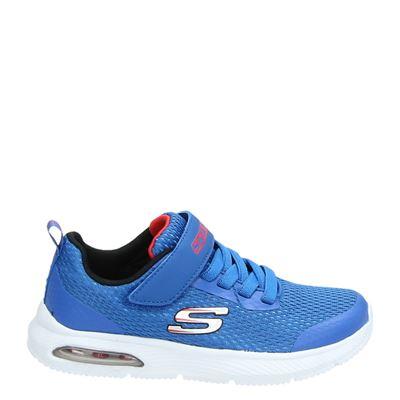Skechers jongens klittenbandschoenen blauw