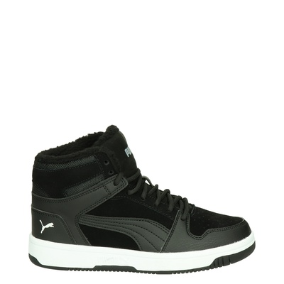 Puma Rebound Lay Up SD Fur - Hoge sneakers - Zwart
