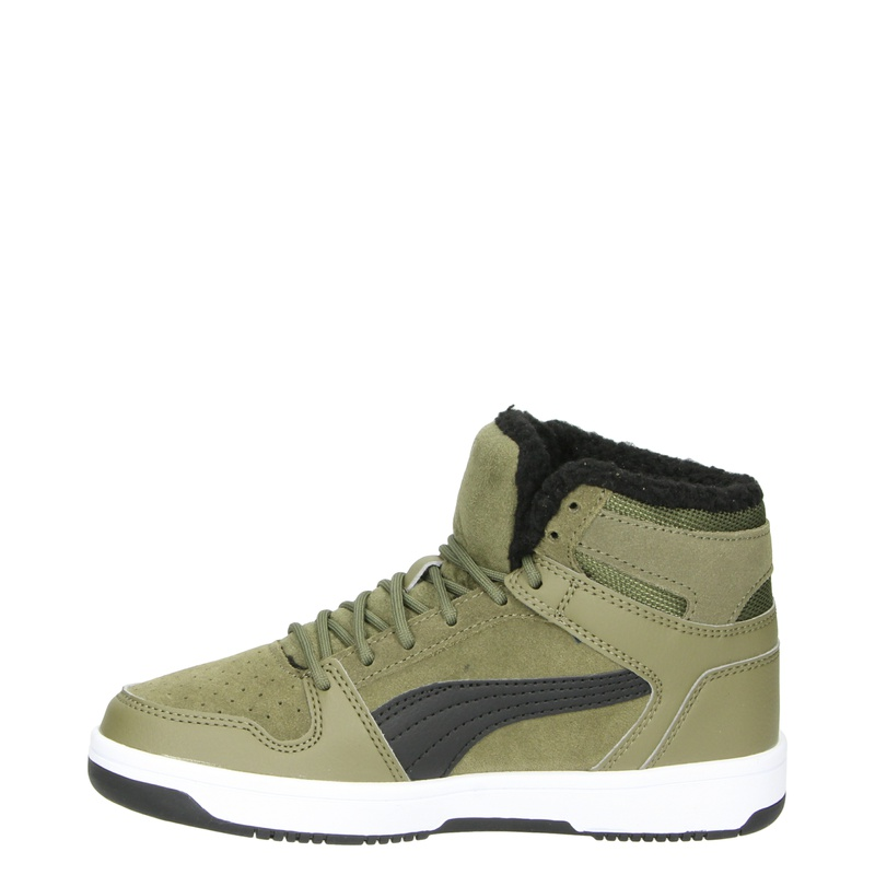 Puma Rebound Lay Up SD Fur - Hoge sneakers - Groen