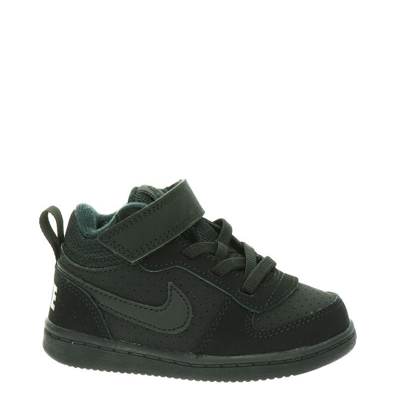 Nike Court Borough - Klittenbandschoenen - Zwart