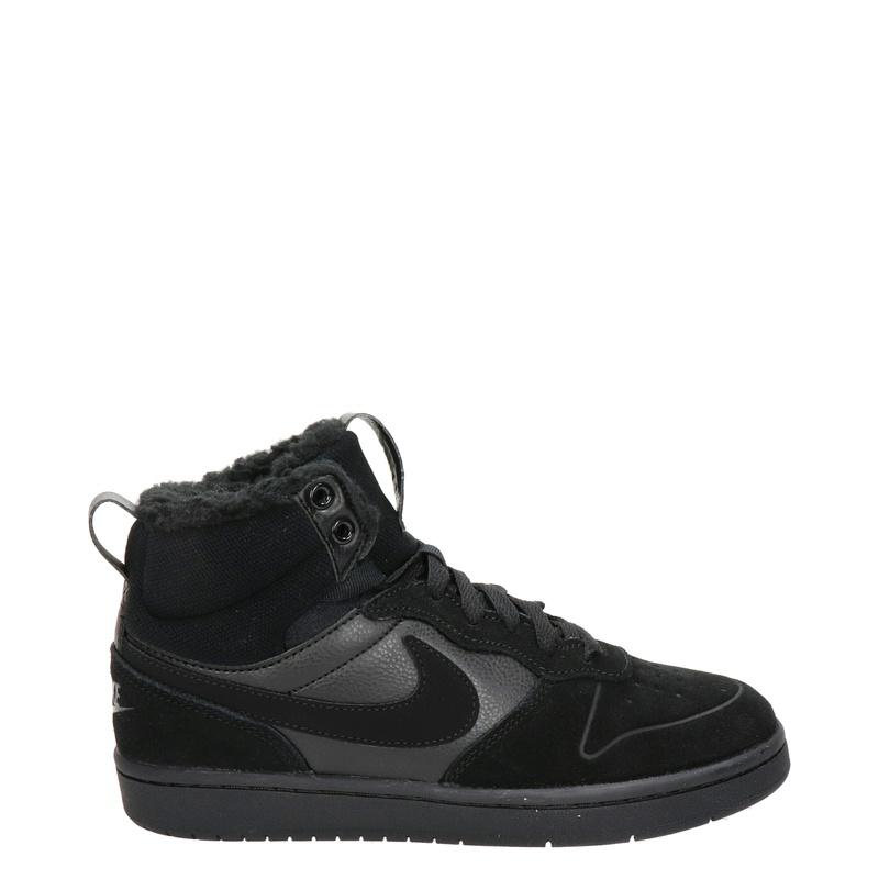 Nike Court Borough Mid - Hoge sneakers - Zwart