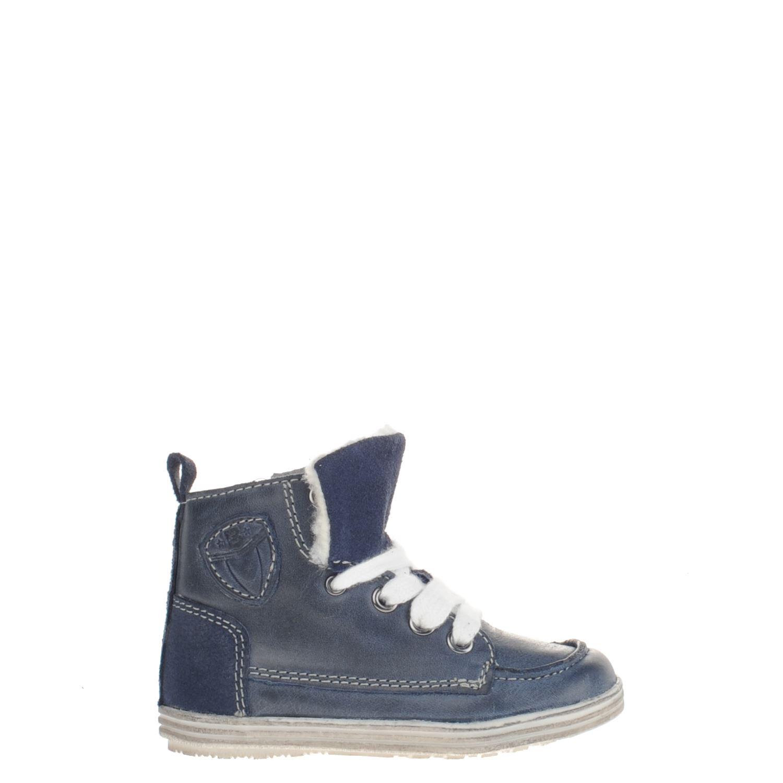 e9b3357395a Orange Babies jongens hoge sneakers blauw