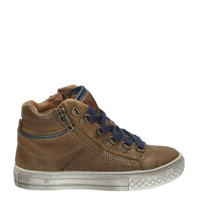 Little David jongens sneakers cognac