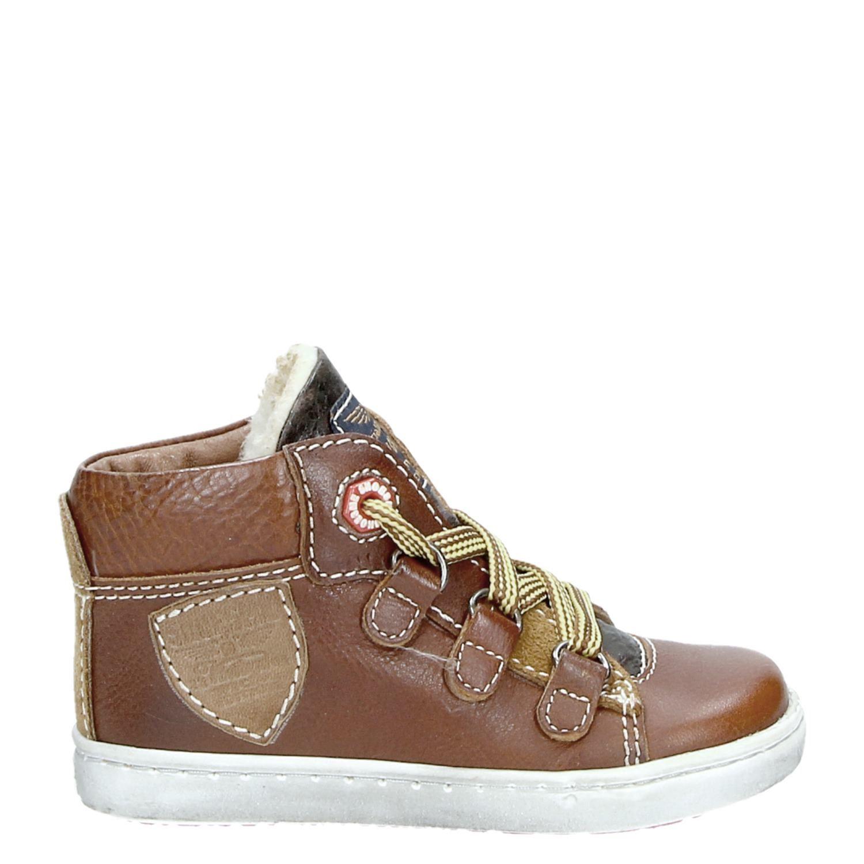 c7c2a87b563654 Shoesme Urban jongens veterboots cognac