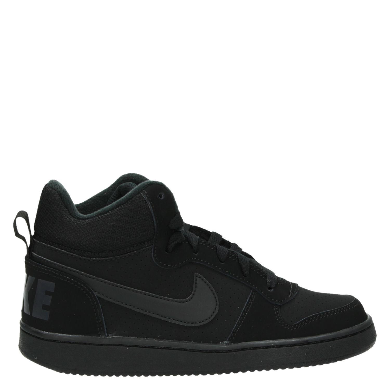 c1983a1ee41 Nike Court Borough jongens hoge sneakers zwart