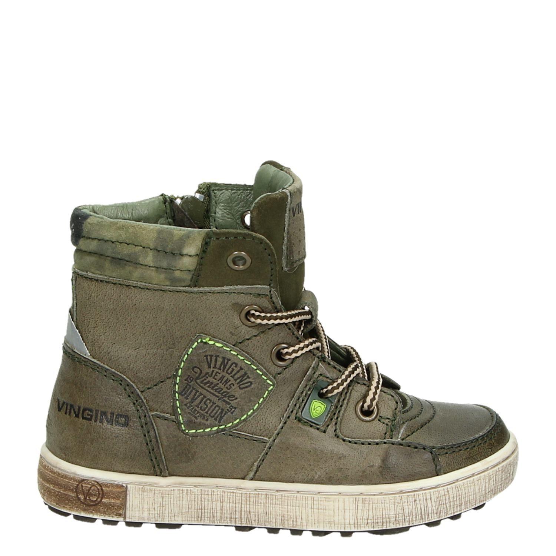 24b81056c6e Vingino Sil mid jongens hoge sneakers groen