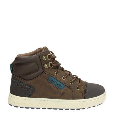 Skechers jongens sneakers bruin