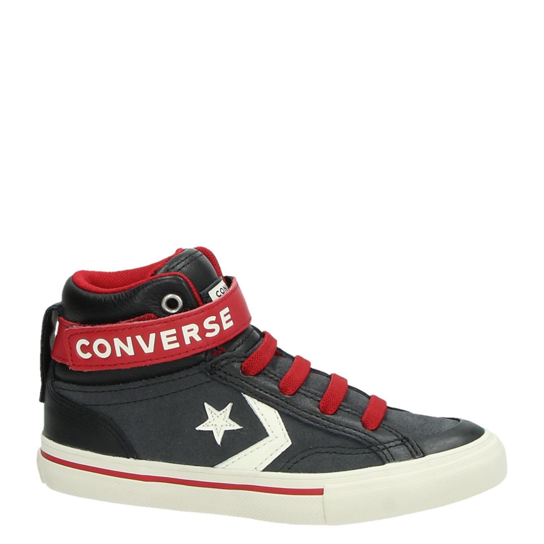 f95340ba9d8 Converse jongens hoge sneakers zwart