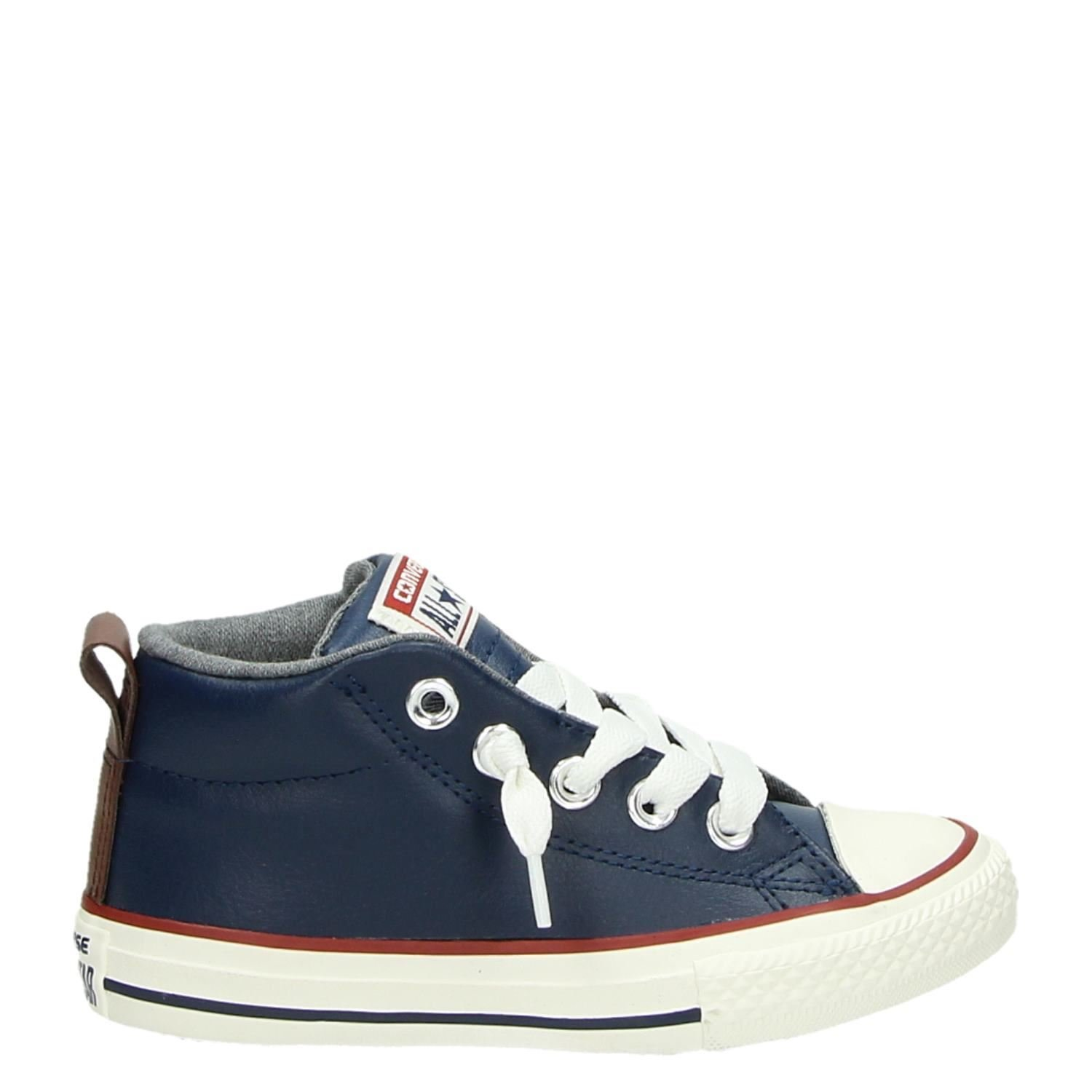 d0d6b4f6166 Converse All Star Street Winter jongens lage sneakers blauw