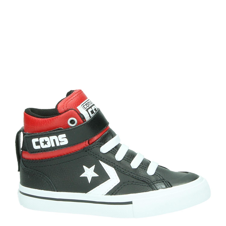 0a3e7ed174f Converse jongens hoge sneakers zwart