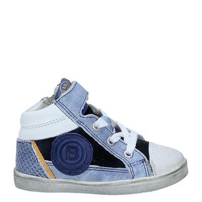 Orange Babies jongens hoge sneakers blauw