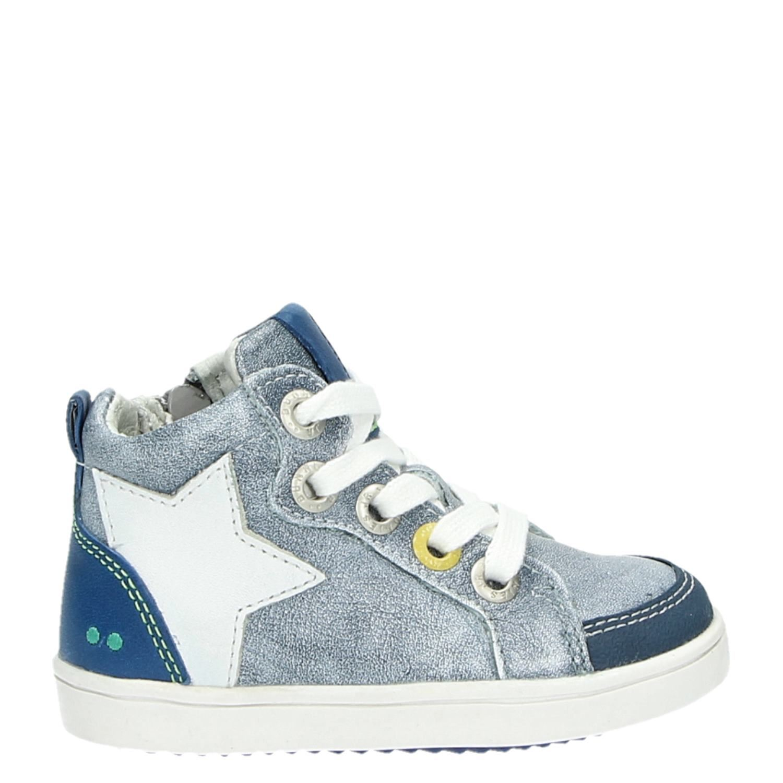 4bd612dc285 Bunnies Sterbootie jongens hoge sneakers blauw