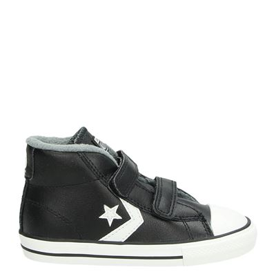 Converse jongens klittenbandschoenen zwart