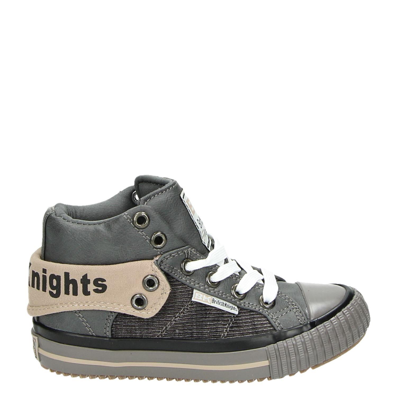 f7f916e5a28 British Knights jongens hoge sneakers grijs