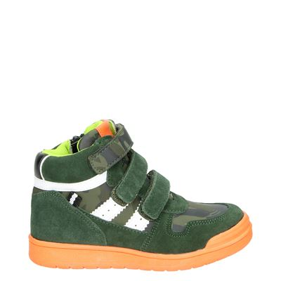 Nelson Kids jongens sneakers kaki