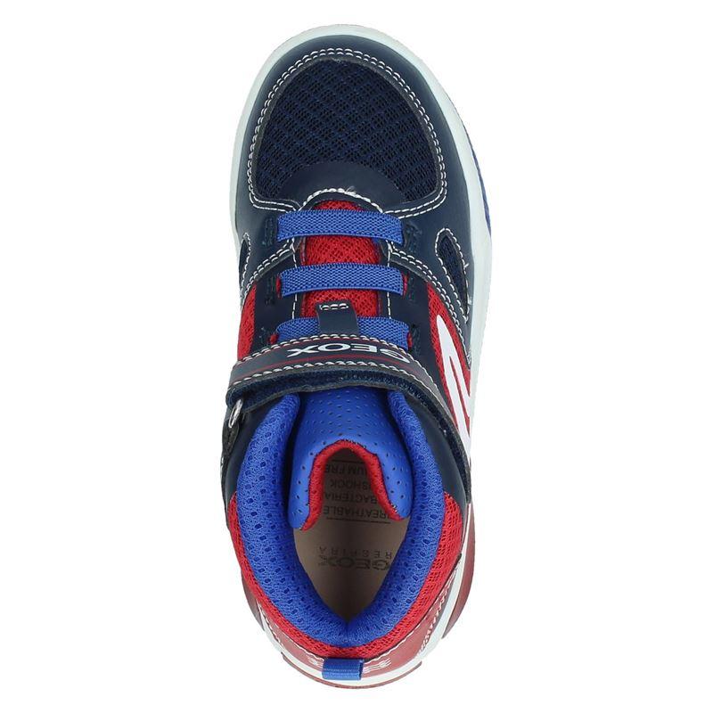 Geox - Klittenbandschoenen - Blauw