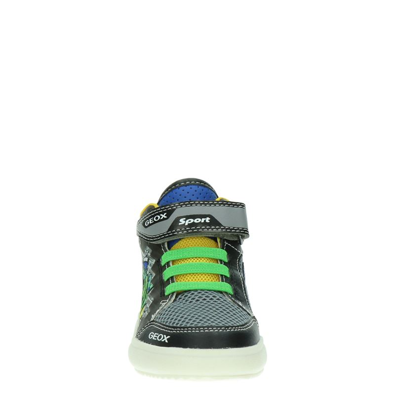 Geox J GrayJay - Hoge sneakers - Zwart