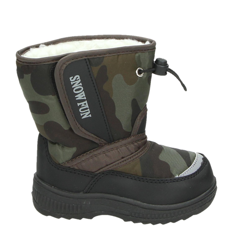 Chaussures Fun Neige Noir Avec Velcro Pour Les Hommes ABiHN1