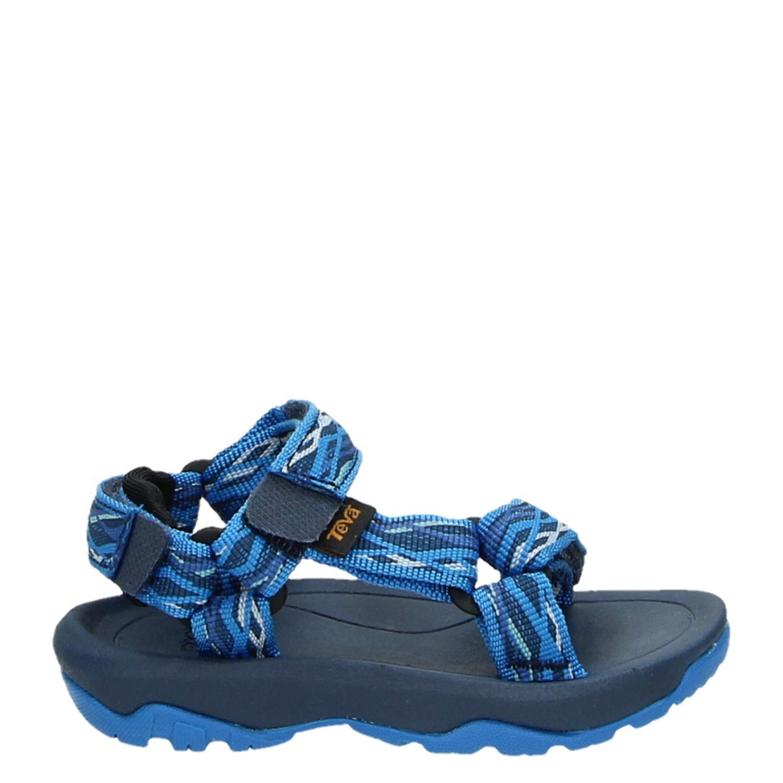 Teva Tanza - Sandales De Marche - Enfants - Taille 26 - Bleu / Gris kmk0wh