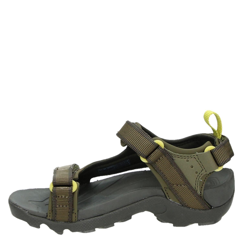 officiële afbeeldingen ontmoeten gedachten over Teva Tanza jongens sandalen groen