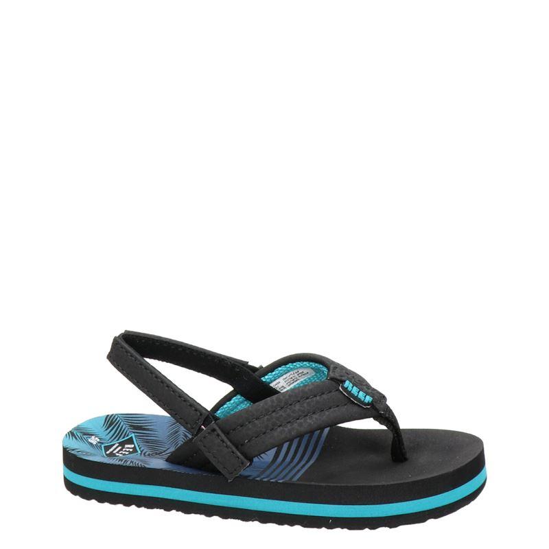 Reef Little Ahi Aqua Palm - Slippers - Blauw