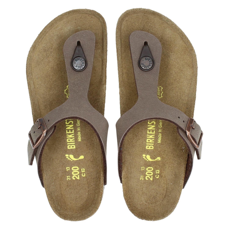 dbf83015dcc Birkenstock Gizeh jongens slippers bruin