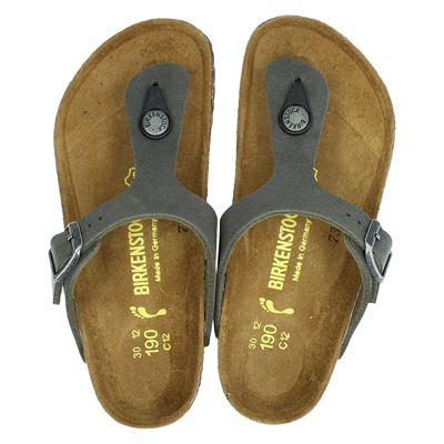 Birkenstock jongens slippers kaki