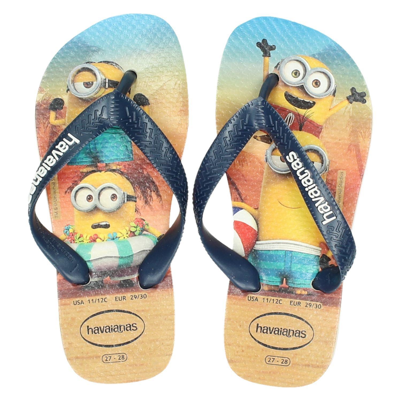 01b1b4016d8e55 Havaianas Kids Minions jongens slippers blauw