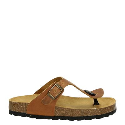 Develab jongens slippers cognac