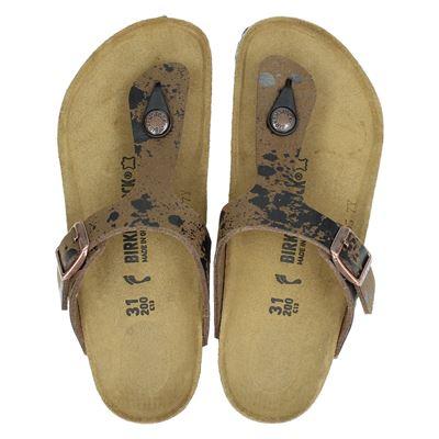 Birkenstock jongens slippers bruin