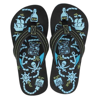 Reef jongens slippers bruin