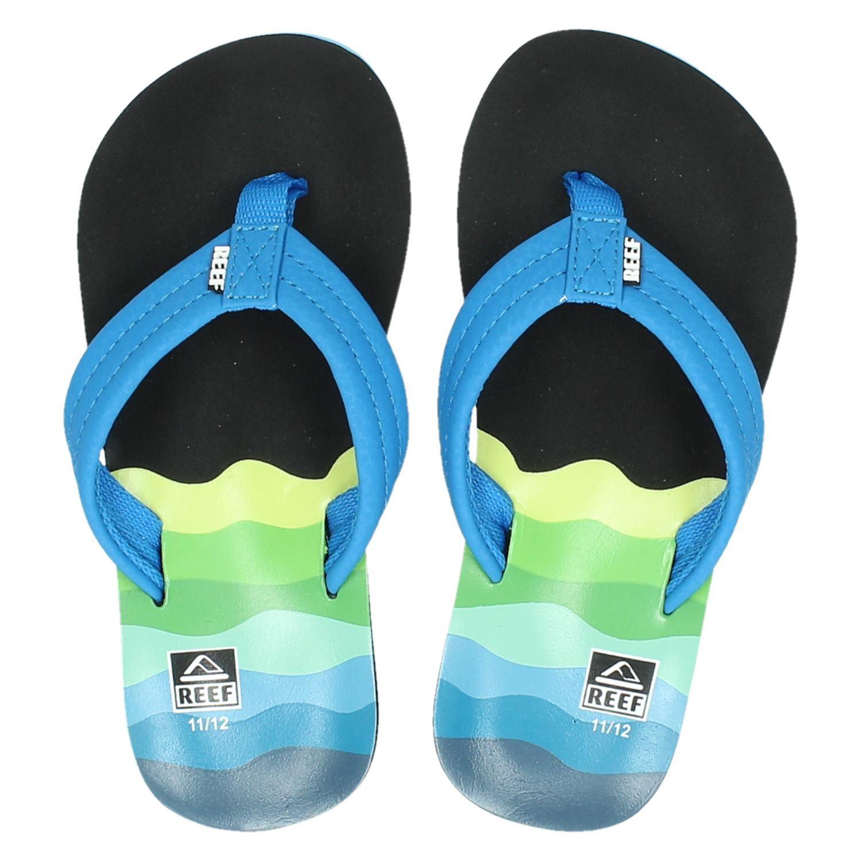 1d13221aa62 Reef Ahi Wave jongens slippers blauw