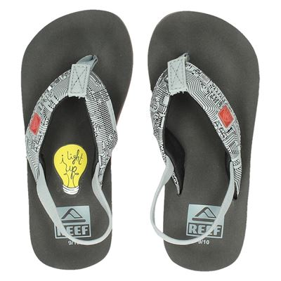 Reef jongens slippers grijs